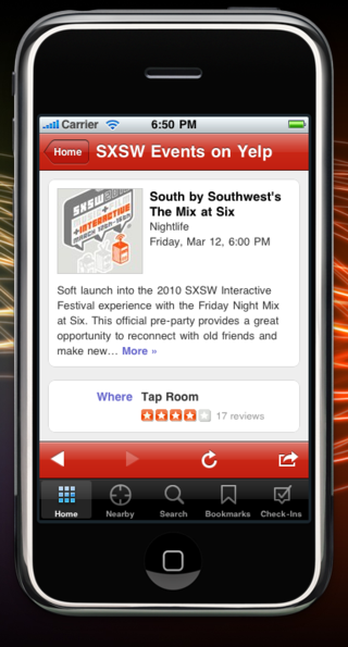 Sxsw party page