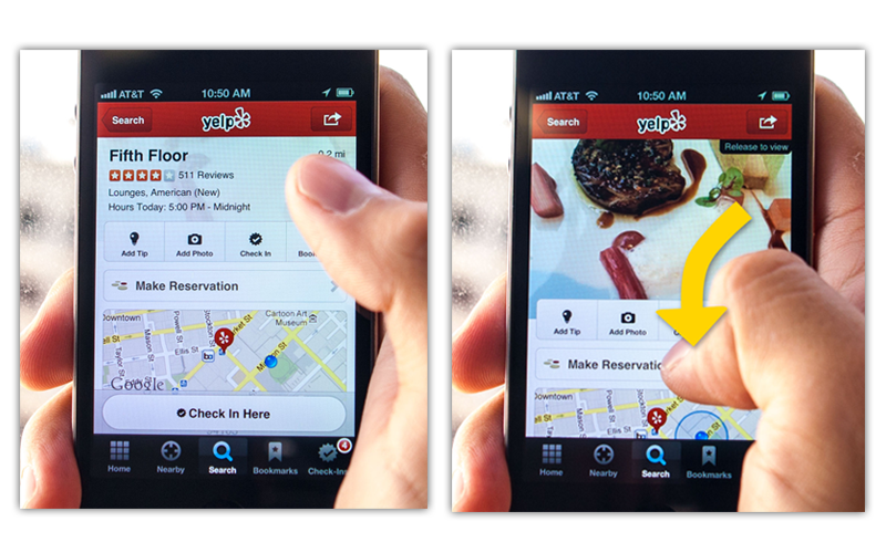 Photo - Yelp Mobile App Searches