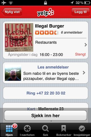 Screen Shot in Norwegian